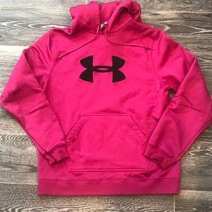 Women's Under Armour Sweatshirt Medium in Pink